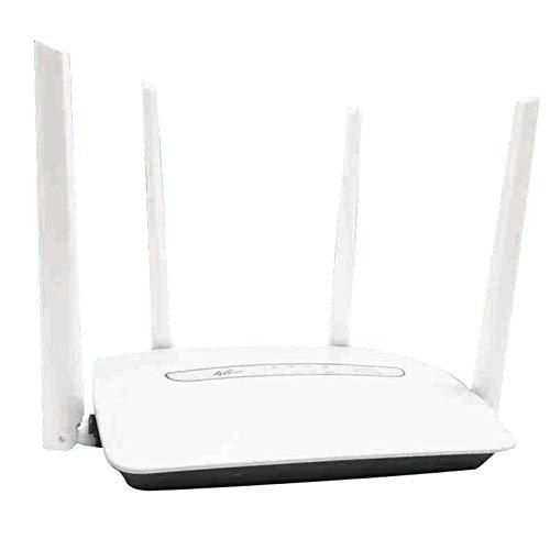 Fransande - Router inalámbrico 150 Mbps 4G LTE Cpe 3G / 4G Hotspot WiFi Móvil 4 antenas externas con puerto LAN hasta 32 Usuarios WiFi