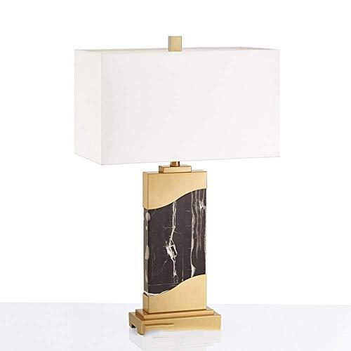 nakw88 Lámpara Escritorio Sala de Estar de Lujo Escritorio mármol Negro lámpara de Mesa LED Creativo Comedor en casa Dormitorio Aprendizaje Hotel Club lámpara Decorativa de Metal 42 * 22 * ?67 cm