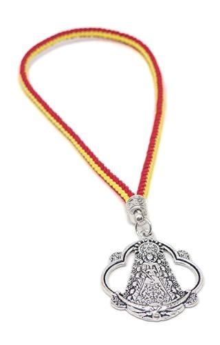Medalla virgen del rocio con cordon