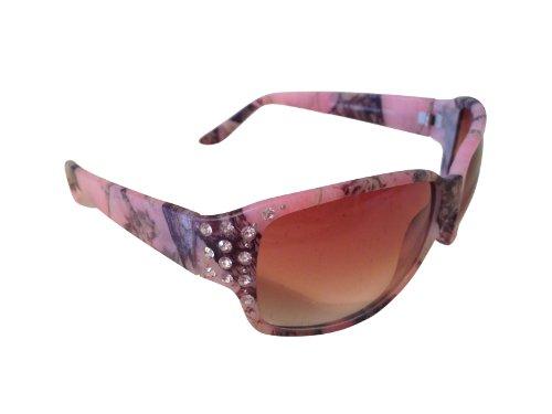 VertX Women's Pink Camouflage Sport Hunting Fishing Sunglasses w/ Rhinestones