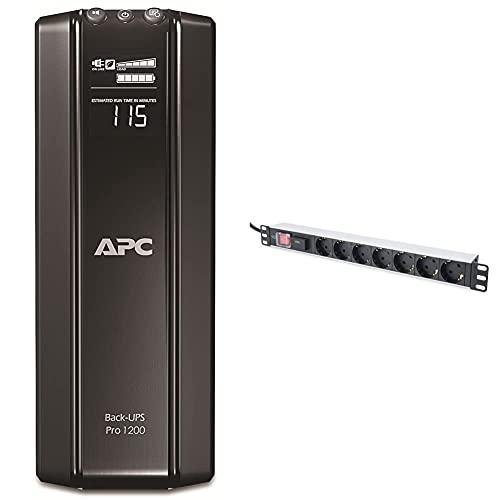 APC Back UPS PRO USV 1200VA Leistung - BR1200G-GR - inkl. 150.000 Euro Geräteschutzversicherung und DIGITUS 19