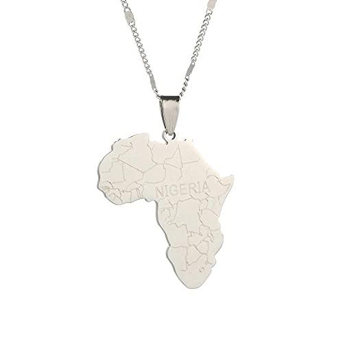 Kkoqmw Mapa de África con Collares Pendientes de Nigeria