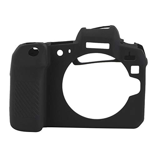 Bindpo Cubierta de la Caja de la cámara, Cubierta de la Caja del Protector de la Pantalla de la cámara de luz Suave Suave a Prueba de Golpes de Silicona,cámara para Canon EOS R Negro(Negro)