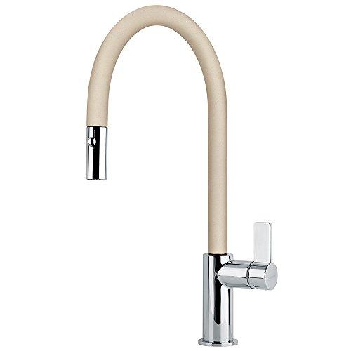 FRANKE Beige Kitchen Sink tap Made of Granite (Fragranite) spout Ambient Pull 115.0289.517