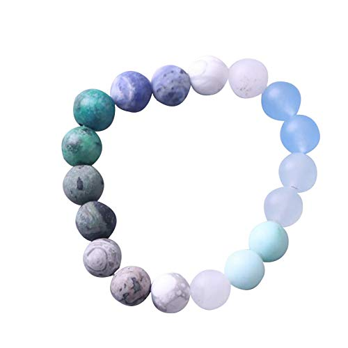 Bracelets for Womens Mens Fashion Solar Galaxy Eight Planets Elastic Bracelet Romantic Valentine's Day Present Birthday Christmas Graduation Gifts(One Size,Multicolor)