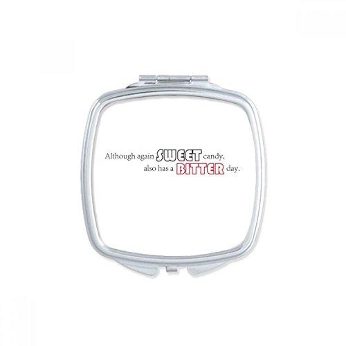DIYthinker Un Homme Peut-Slogan ne monterons Pas Votre Dos à Moins qu'il Bent Place Maquillage Compact Miroir de Poche Miroirs Mignon Petit Cadeau Portable à la Multicolor