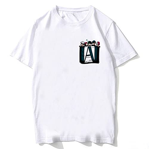 M-HA Print t-Shirt my he-ro acade-MIA Anime Shirt Men/Women/Kids tee Shirt Summer Top Tees Suitable Gifts for Family and Friends