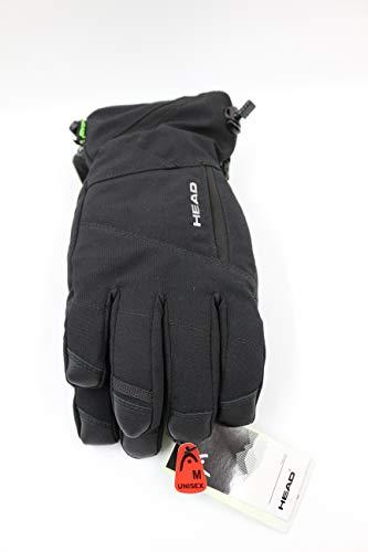 HEAD DuPont Sorona Herren Skihandschuh mit Tasche (S, Schwarz)