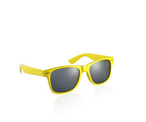 Komonee Gelb Drifter Stil Sonnenbrille UV400 Schutz Unisex