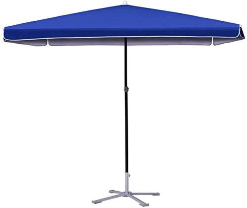 Al aire libre Paraguas Sombrillas azul rectangular al aire libre Patio de mercado Estilo paraguas, for el balcón mesa de la terraza jardín de sombra cubierta Yard (Color: azul, tamaño: 280cmtimes; 220