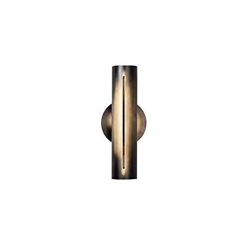 SYyshyin Creative Arts - Lámpara de pared para sala de estar, sofá, cama, dormitorio, dormitorio, diseño moderno, 12 cm de diámetro x 30 cm de alto (bronce)