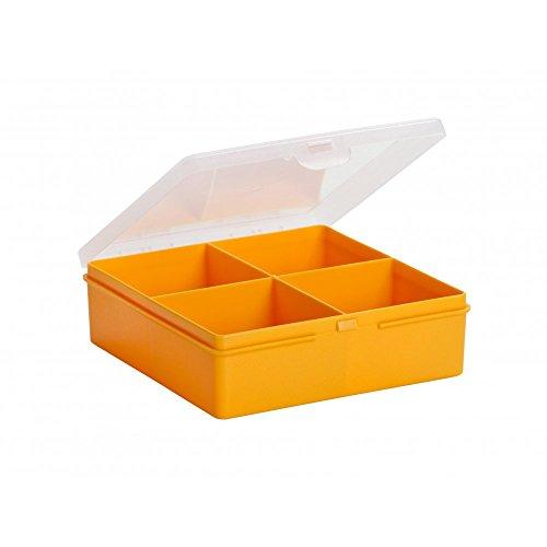 Wham 4 Section Organiser Box Sunflower