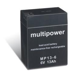 Multipower Bleiakku MP13-6 (6V / 13 Ah), wartungsfrei
