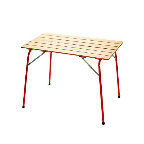 [castelmerlino(カステルメルリーノ)] 折りたたみテーブル ハイ&ローキャンパーテーブル 100×60 赤