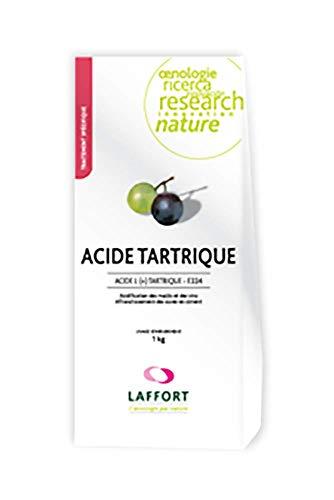 L(+) Ácido Tartárico E-334 de Uso Enológico - Acidificación de Mostos y Vinos - 1 kg