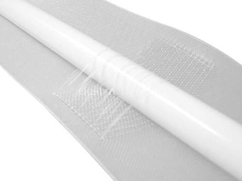 heimtexshop24 100mm oder 50mm Stangendurchschubband Wellenband Gardinenband Stangenband länge zur Wahl (3m 100mm)