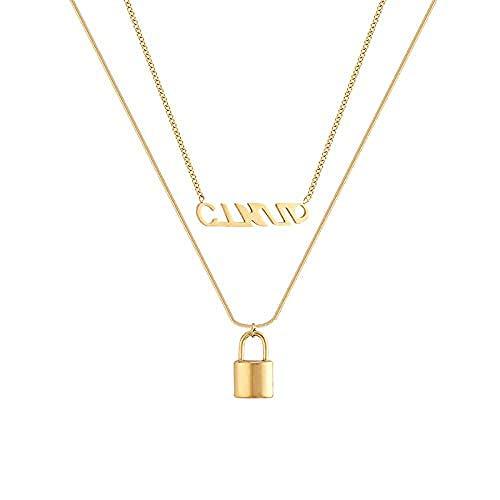 Aluyouqi Co.,ltd Collar Colgante de Temperamento Collar Doble Collar de clavícula Femenina Joyas de Alto Sentido