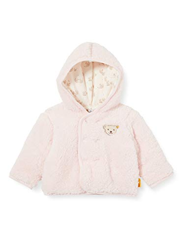 Steiff Baby-Mädchen mit süßer Teddybärapplikation Fleecejacke, Rosa (Barely Pink 2560), 086