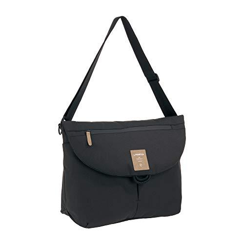 LÄSSIG Baby Wickeltasche inkl. Accessoires/Green Label Manu Messenger Bag black