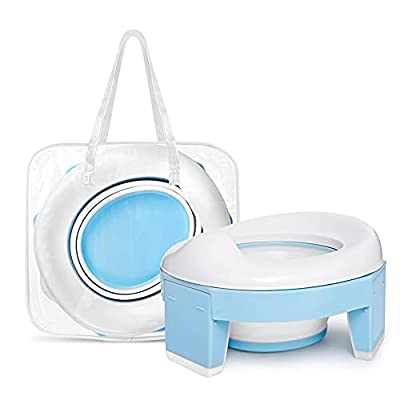 3-in-1 Go Portable Toddler Potty Seat for Travel, Folding Potty Training Toilet Chair with Travel Bag, Lightweight Potty Trainer for Travel Home Car Camping Use for Kids Baby from augtarlion