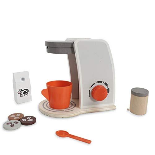 Hölzerne Kaffeemaschine Simulation Küchenchef Spielzeug Pretend Play Toy für Girl Boy Kid Geschenke