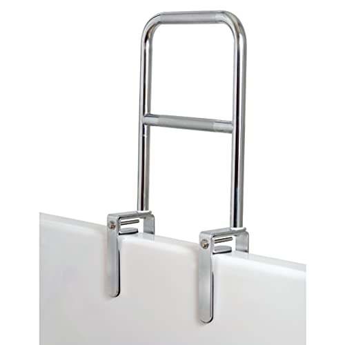 Carex Dual Level Grab Bars for Bathtubs and Showers - Bathtub Grab Bar, Shower Handle & Bath Tub Bar Clamps for Seniors & Elderly