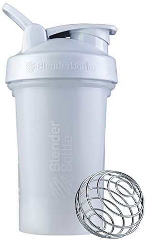 BlenderBottle Classic V2 Shaker Bottle Perfect for Protein Shakes and Pre Workout, 20-Ounce, White
