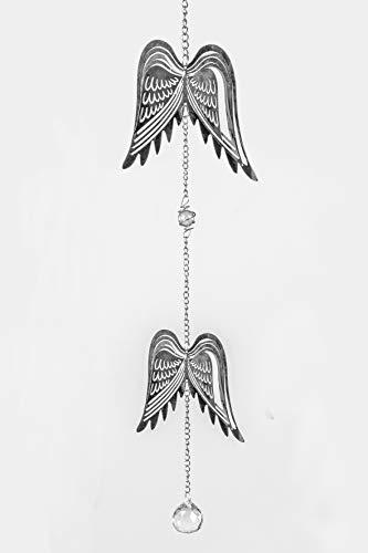 formano Metall Hängedeko Flügel 80 cm Engelsflügel Fensterhänger Fensterdeko Silber
