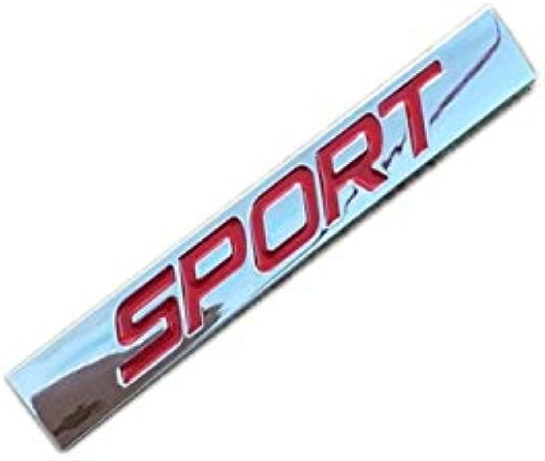 Zinc Alloy Sport Badges Emblems Stickers Logos (color Name Chrome