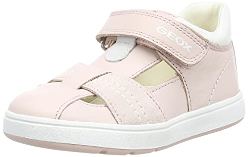 Geox Baby-Mädchen B BIGLIA Girl D First Walker Shoe, LT Rose/White, 21 EU