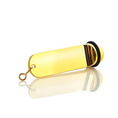 Schlüsselanhänger Hotelschlüssel Hotel Pension Schlüssel Anhänger Goldoptik mit Gummiring 11 cm Key Tag gravierbar