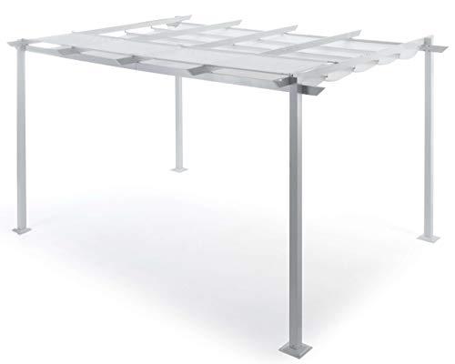 taddei Pergola da Giardino Retrattile 3x4 m in Alluminio Sug S Bianca