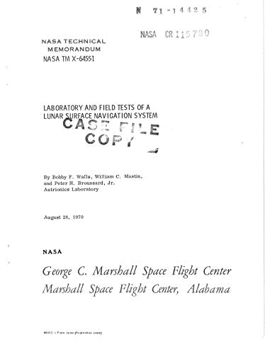Laboratory and field tests of a lunar surface navigation system (English Edition)