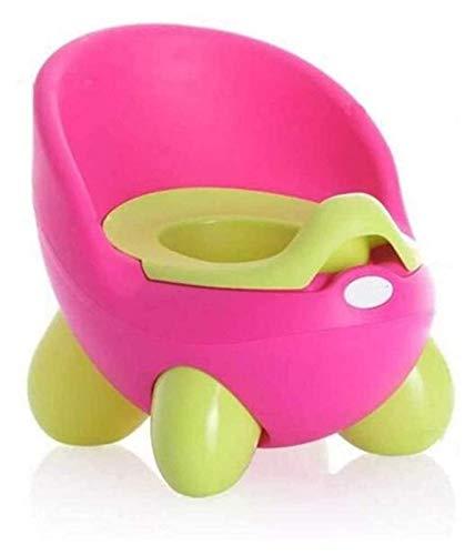 MTCWD Limpieza fácil para niños Cómodo Entrenamiento Tapón Asiento para baño Potty Silla Muñecas Bebé Niños Niños (Color : Rose Red, Size : 28x34x29cm)