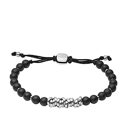 Fossil JF03677040 Bracelet en agate pour homme Noir