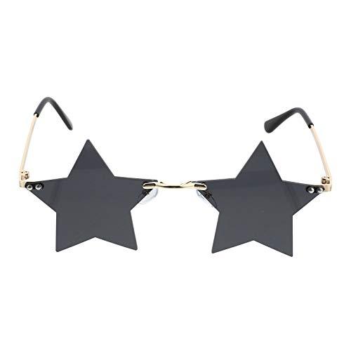 TOYANDONA - Gafas de sol para unisex, diseño de estrellas, color gris
