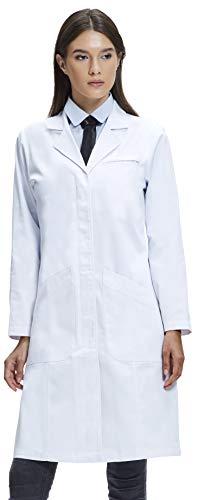 Dr. James Bata de Laboratorio Mujer, Corte Clásico, Varios Bolsillos, 94cm de Longitud (44 (XXL))