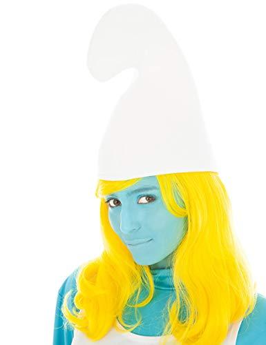 Generique - Schlumpfine-Mütze für Damen Accessoire Weiss Einheitsgröße