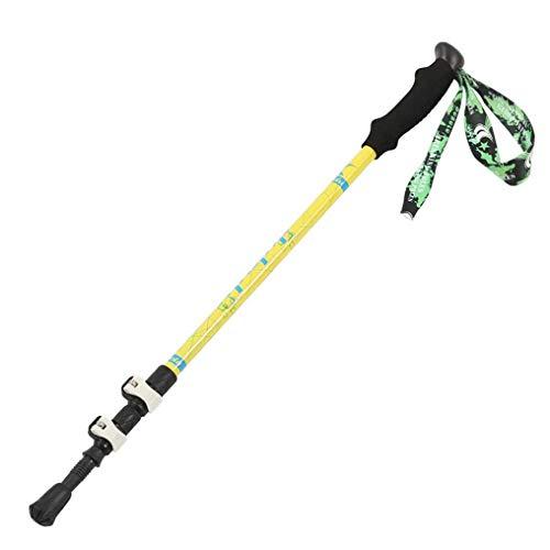 Bâtons de Marche en Aluminium bâtons de Trekking pliants, Ultra-légers, à Fermeture Rapide pour la randonnée, Le Camping, Les Voyages, l'Escalade-Yellow