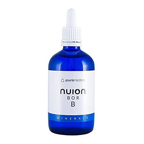 NUION Bor (acido borico), 100 ml, prodotto vegano, adatto per vegani e vegetariani