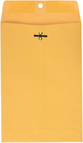 Top Flight Clasp Envelopes, Gummed and Clasped Closure, 6 x 9 Inches, Brown Kraft, 14 Envelopes per Pack (6911066)