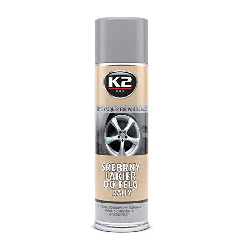 K2 Pintura En Spray Para Llantas De Coche 500 Mililitro Color Plateado Plata