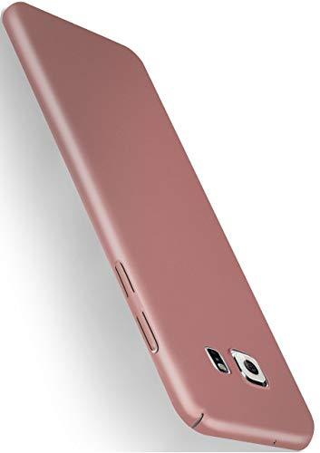MoEx® Alpha Hülle kompatibel mit Samsung Galaxy S7 Hülle Dünn | Ultra-Slim Handyhülle - Metallic Schutzhülle Handy Cover, Matt Rosé-Gold