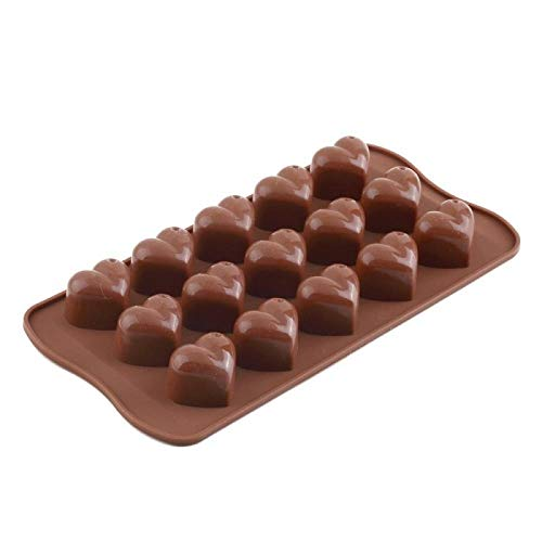 BINGFANG-W Antiadherente Molde de horneado 15 agujero amoroso corazón patrón de pastel Molde Patisserie Molde de silicona Molde de chocolate Suministros de cocina