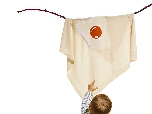 Premium kwaliteit Merino babydeken 100% extra fijne merinowol wol, 90x90 cm, in geschenkdoos