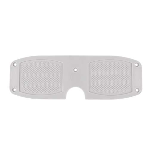 Milageto Soporte duradero para motor fuera de borda con placa de Poppa de PVC para bote – Blanco