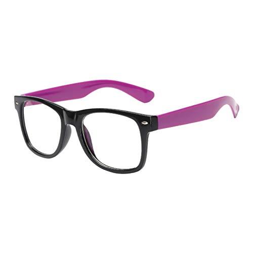 BUZHIDAO Gafas de sol para hombre y mujer, con filtro azul, gafas planas, protección para los ojos, color Morado, talla Einheitsgröße