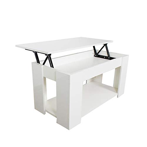 SXFYWJ coffee table for living room furniture sets ready assembled white nest of tables solid oak lift top gloss tablesiving small spaces bedroom side
