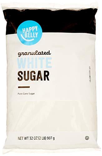 Amazon Brand – Happy Belly Granulated White Cane Sugar, 2lb