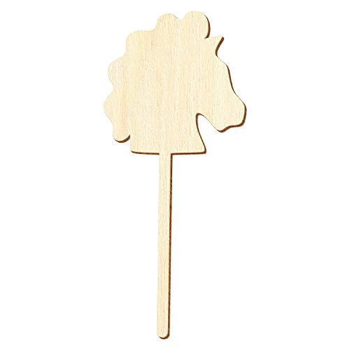 Holz Steckenpferd - Deko Zuschnitte Größenauswahl, Größe:35cm, Pack mit:50 Stück
